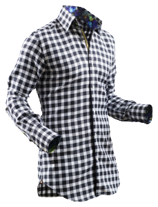 Bold patterned fitted shirts like ones offered by Circle of Gentlemen are form flattering and create a great contrast when paired with solid blazers or sweaters. (Circle of Gentlemen is available at Armour.)