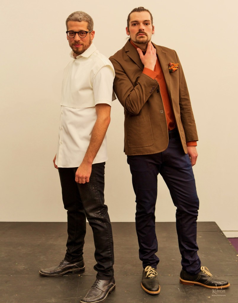 Joe Cotler and Micah Geyer dressed by Armour Boutique photo by Frank Bicking 9