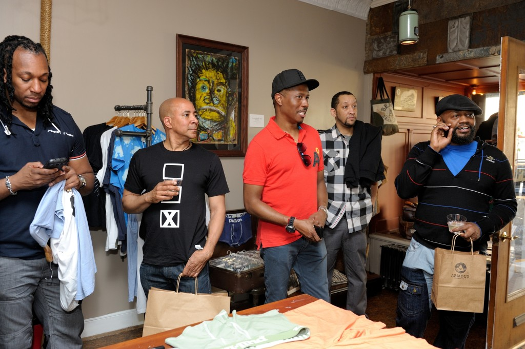 David Grimes Armour men's clothing store at 704 S. 4th street celebrates Philly Black Pride and the Penn Relays featuring Underwear and Swimwear from  Pull-In.
